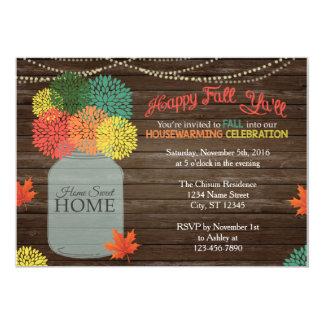 Fall Mason Jar Housewarming Invitation