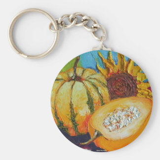 Fall Medley Basic Round Button Key Ring