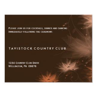 Fall Minimalist Floral Wedding Reception Card 11 Cm X 14 Cm Invitation Card