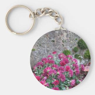 Fall Mums and Emerald Moss - photograph Key Chain