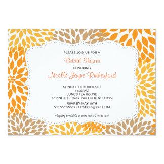 Fall Mums Wedding Bridal or Baby Shower invites