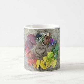 Fall nature rainbow wreath mug