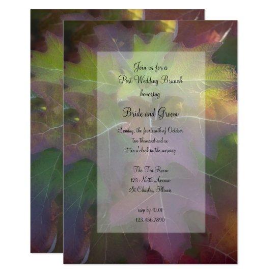 Fall Oak Leaf Hydrangea Post Wedding Brunch Invite