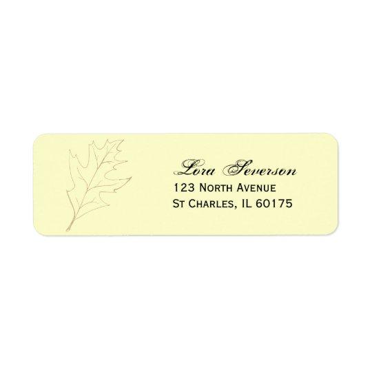 Fall Oak Leaf Return Address Label
