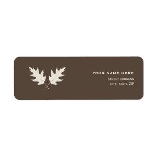 Fall Oak Leaf Rubbing Address Label