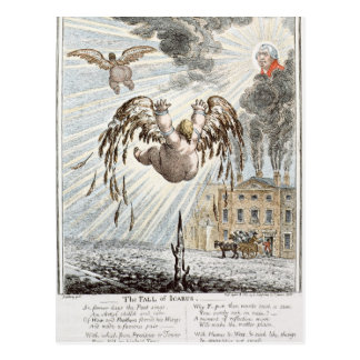 Fall of Icarus, 1807 Postcard