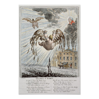 Fall of Icarus, 1807 Poster
