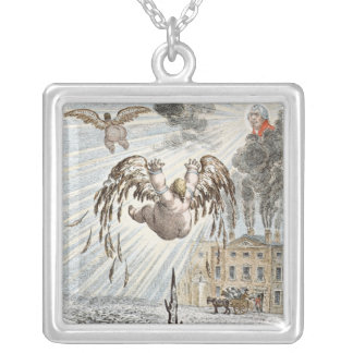 Fall of Icarus, 1807 Silver Plated Necklace