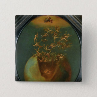 Fall of Satan and the Rebel Angels from Heaven 15 Cm Square Badge
