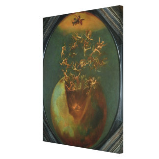 Fall of Satan and the Rebel Angels from Heaven Canvas Print