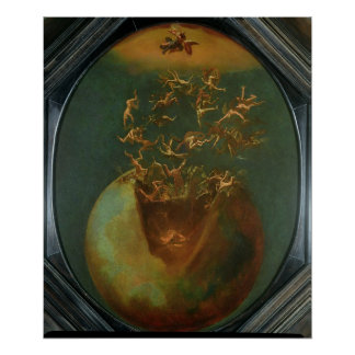 Fall of Satan and the Rebel Angels from Heaven Poster