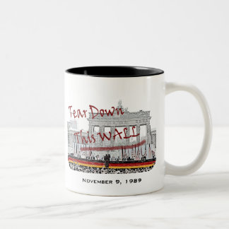 Fall of the Berlin Wall Anniversary Two-Tone Mug