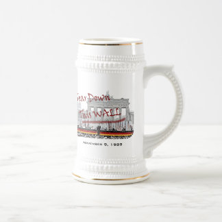 Fall of the Berlin Wall Commemorative 18 Oz Beer Stein