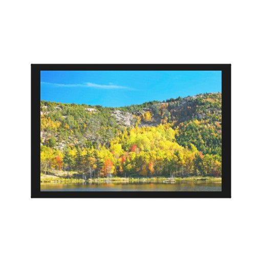 Fall On Beaver Dam Pond Acadia National Park Maine Gallery Wrapped Canvas