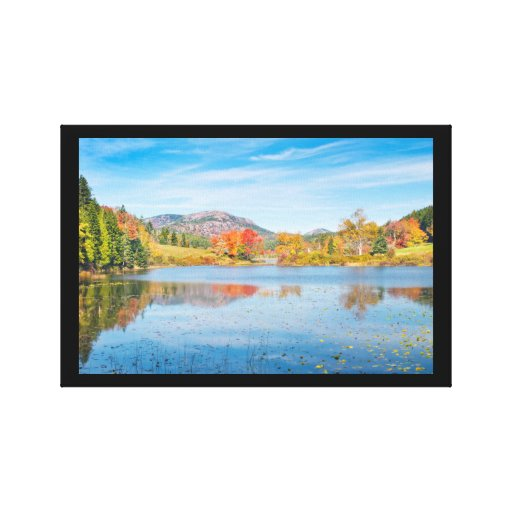 Fall on Long Pond Acadia National Park Maine Canvas Prints