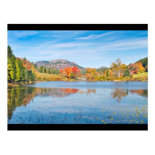 Fall on Long Pond Acadia National Park Maine Postcards