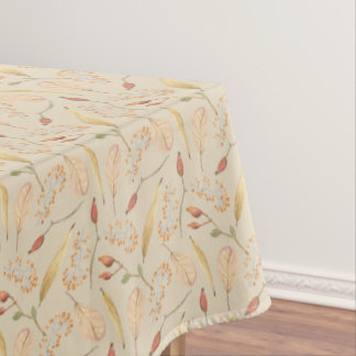 Fall or Thanksgiving Nature Pattern Tan Tablecover Tablecloth