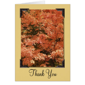 Fall Orange Leaves Thank You Card
