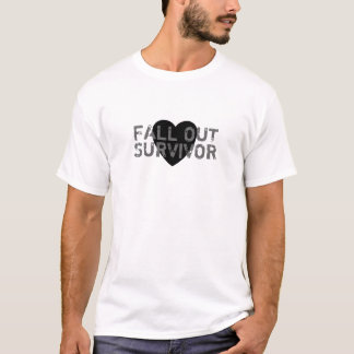 Fall Out Survivor T-Shirt (black heart)