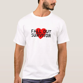 Fall Out Survivor T-Shirt (red heart)