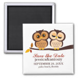 Fall Owls Save the Date Magnet