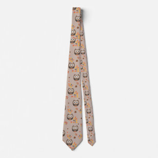 Fall Owls Tie