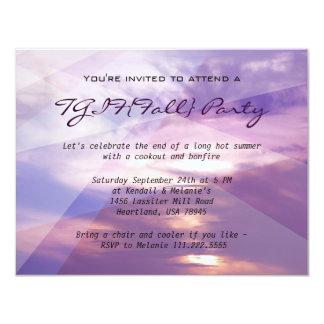Fall Party Custom Invitiations 11 Cm X 14 Cm Invitation Card