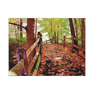 Fall Pathway Gallery Wrap Canvas