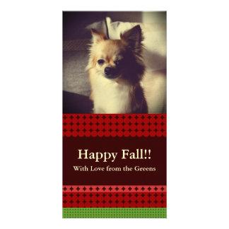 Fall Pattern NO.3: Customized Photocard Card Photo Greeting Card