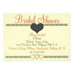 Fall Peach Formal Bridal Shower Invitation