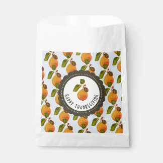 Fall Pears Fruit Thanksgiving Favour Bags