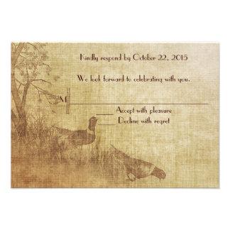 Fall Pheasant RSVP Custom Invites