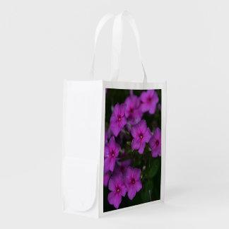 Fall Phlox Pink Wildflower Floral Reusable Bag
