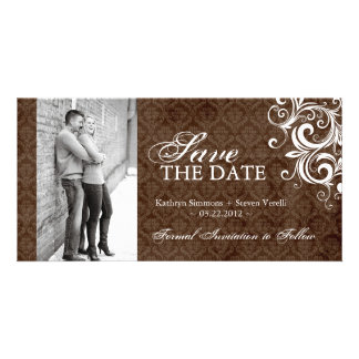 Fall Photo Save The Date Invitation Photo Card Template