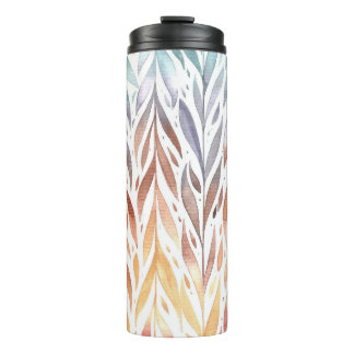 Fall - Pretty Soft Shades of Autumn Watercolors Thermal Tumbler
