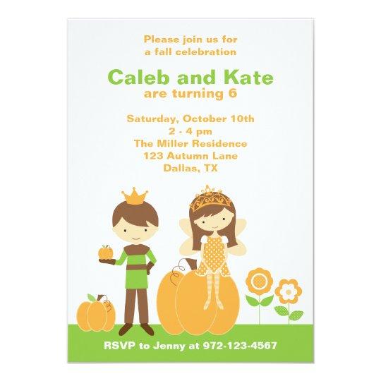 Fall Prince and Fairy Princess Invitation