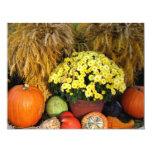 Fall Pumpkin and Wheat Invitation