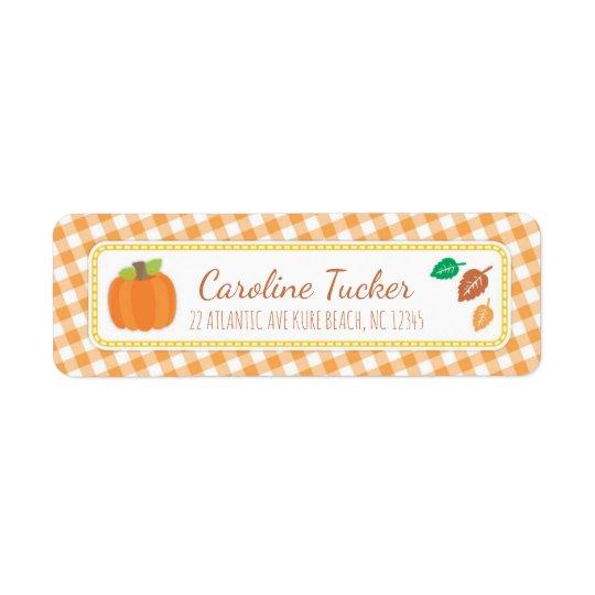 Fall Pumpkin Baby Shower Address Label
