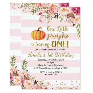 Fall Pumpkin Birthday Invitation