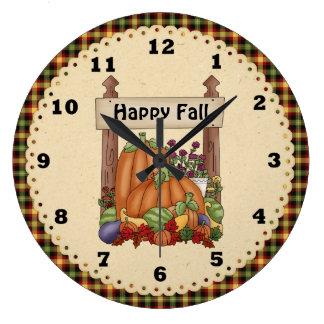 Fall Pumpkin Clock