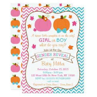 Fall Pumpkin Gender Reveal Card