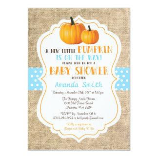 Fall Pumpkin Girl Baby Shower Invitation Card