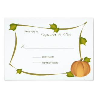 Fall Pumpkin Harvest Response Card 9 Cm X 13 Cm Invitation Card