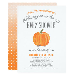 Fall Pumpkin Ombre | Baby Shower Invitation