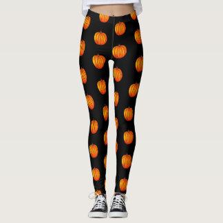 Fall pumpkin pattern leggings
