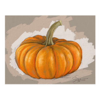 Fall Pumpkin Postcard - Original Art