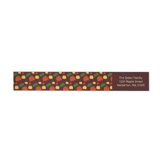 Fall Pumpkin:  Return Address Labels #3 Wraparound Address Label