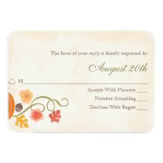 Fall Pumpkin RSVP Wedding Response Card 9 Cm X 13 Cm Invitation Card