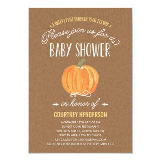 Fall Pumpkin Rustic | Baby Shower Invitation