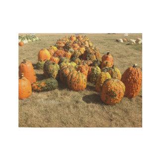 Fall Pumpkin Sale Wood Poster
